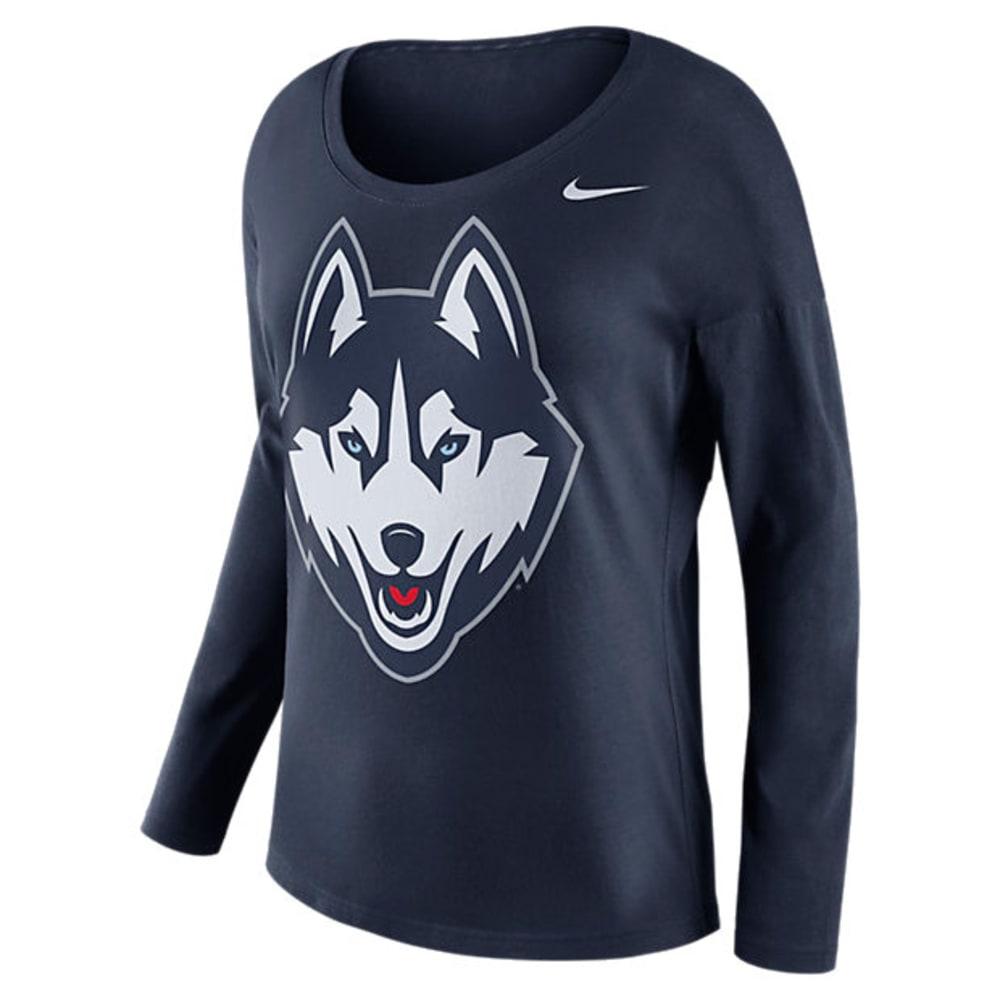 UCONN Women's Nike Tailgate Spirit Long-Sleeve Tee - NAVY
