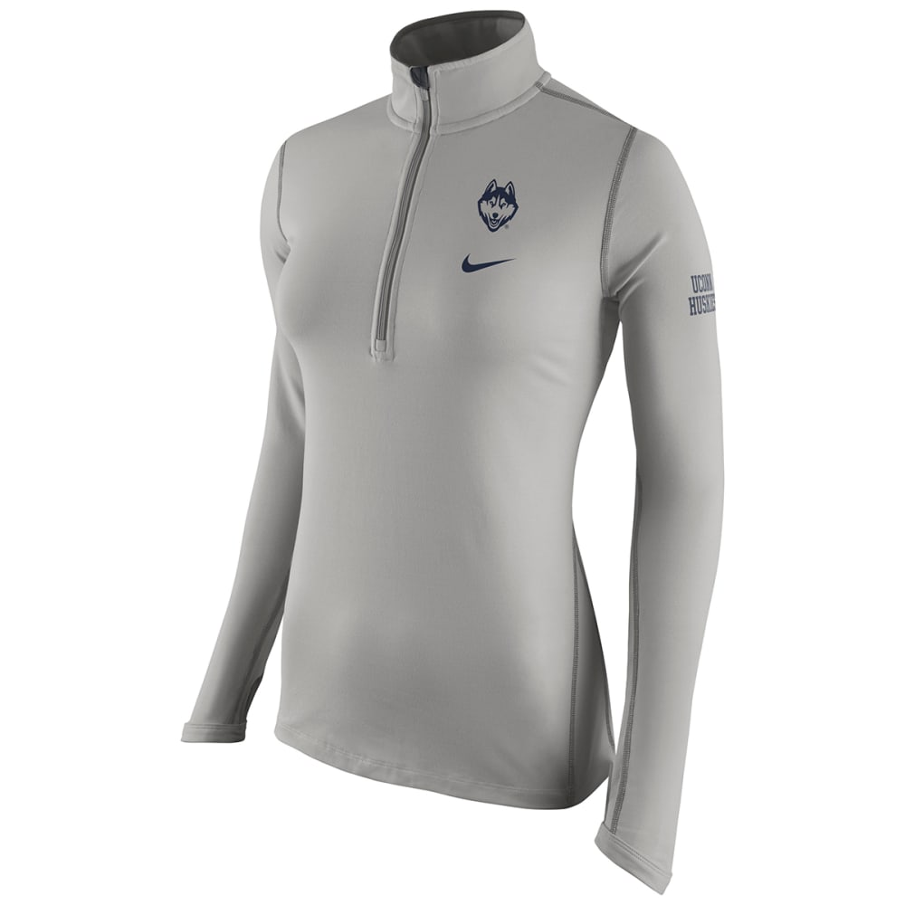 UCONN Women's Nike Tailgate Element Pullover - HEATHER GREY