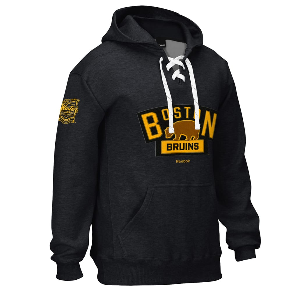 BOSTON BRUINS Men's 2016 Winter Classic Patch Lace Up Hoodie - BLACK