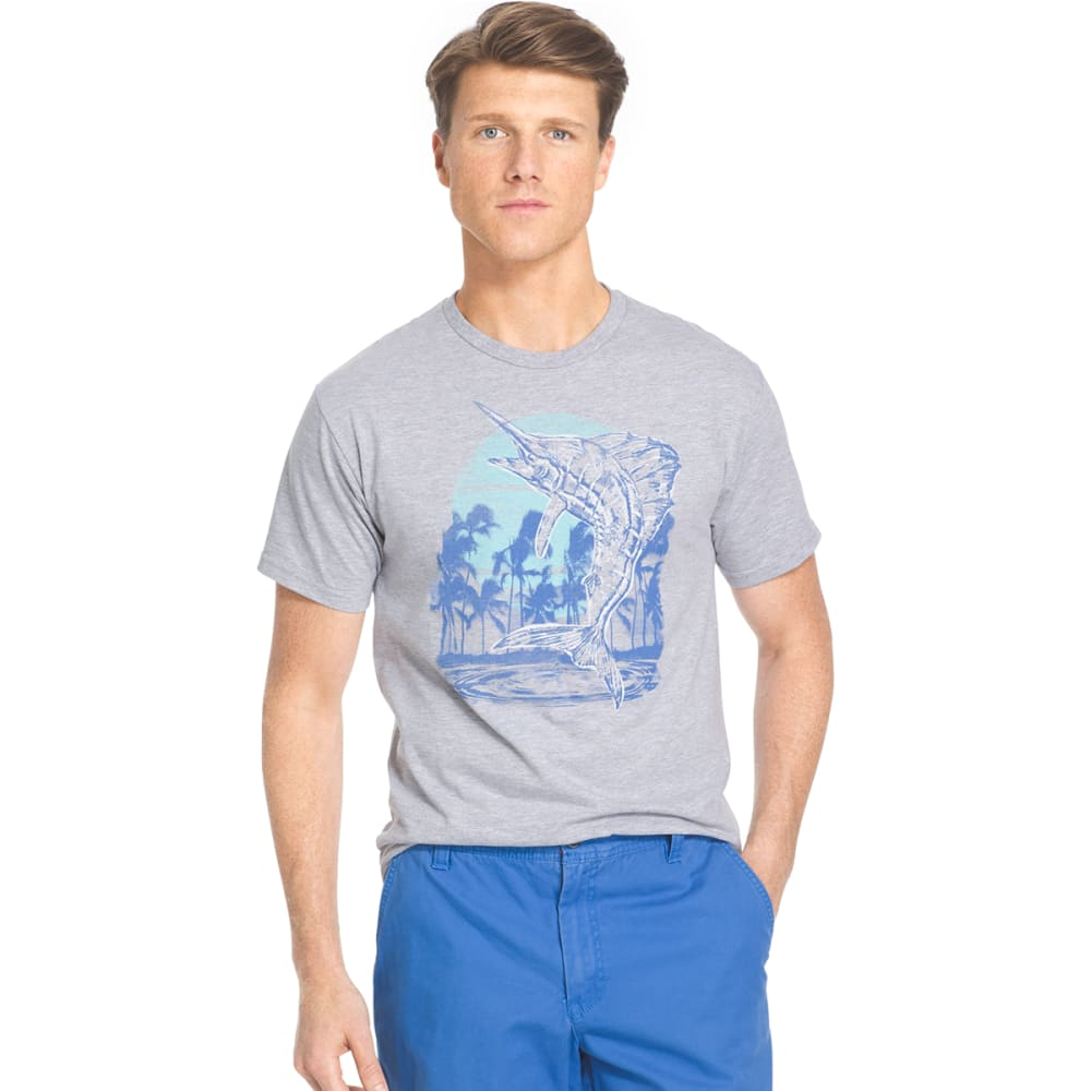 IZOD Men's Marlin Jump Graphic Tee - 330-GREY