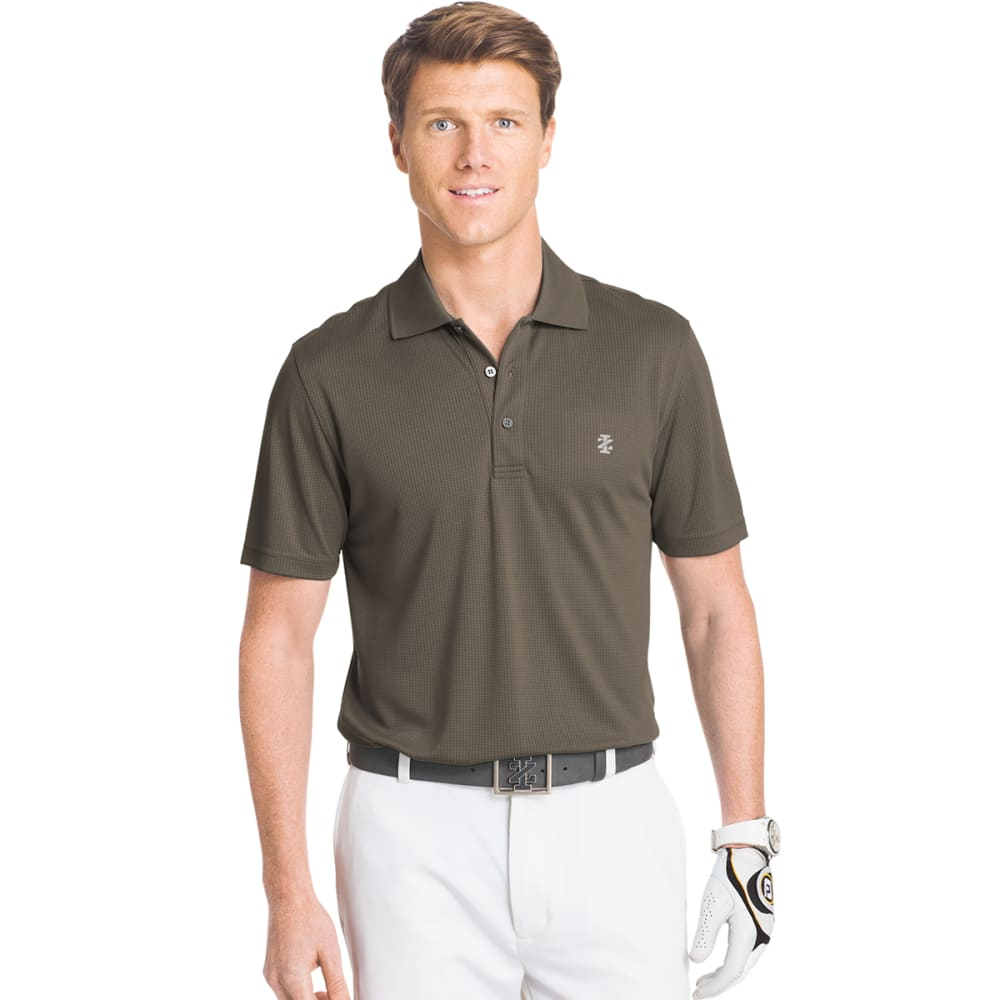 IZOD Men's Champion Grid Golf Polo - 034-METEORITE