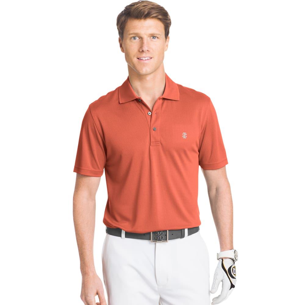 IZOD Men's Champion Grid Golf Polo - 833-HOT CORAL