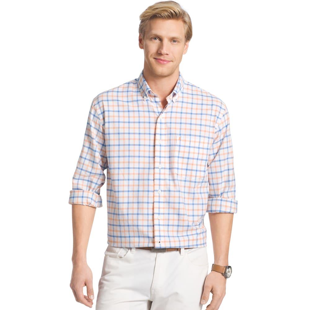 IZOD Men's Oxford Plaid Long-Sleeve Shirt - 822-MOCK ORG