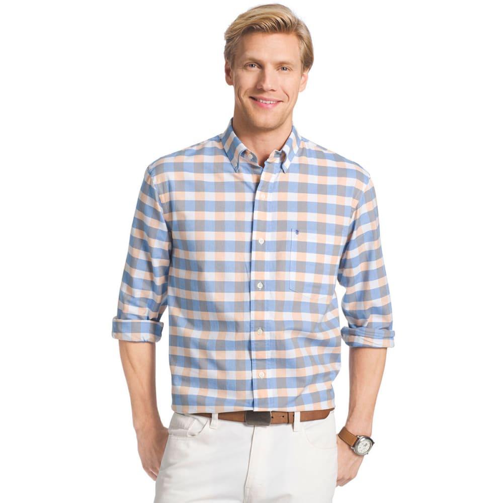 IZOD Men's Newport Oxford Plaid Shirt - 822-MOCK ORANGE