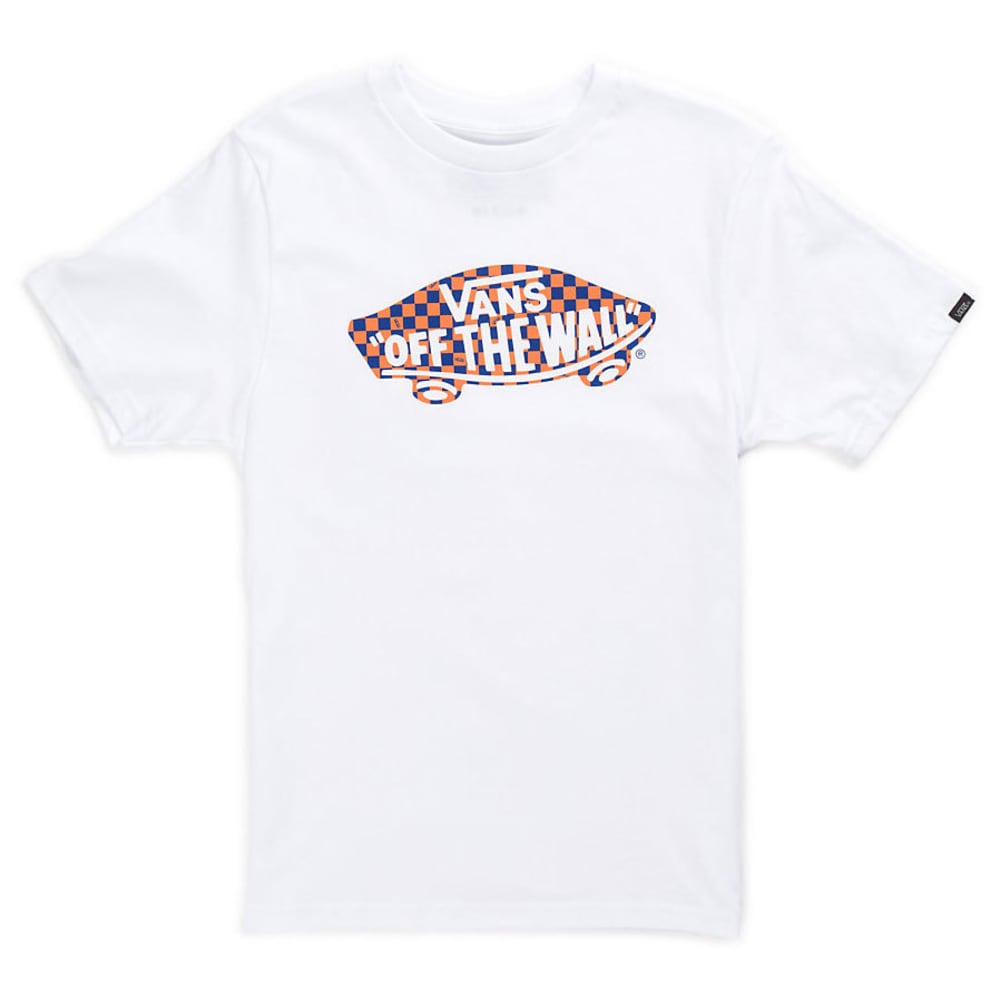 VANS Boys' Off the Wall Logo Fill Tee - WHITE