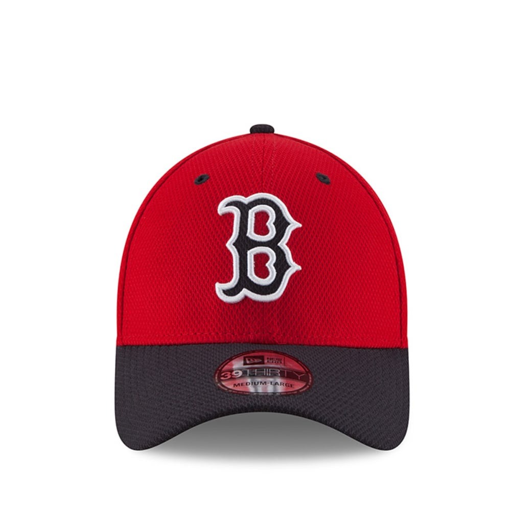 BOSTON RED SOX Diamond Era 39Thirty Flexfit Hat - RED