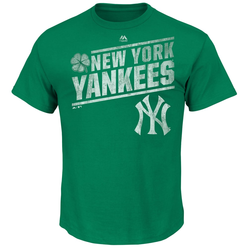 NEW YORK YANKEES Men's Luck Is Not An Option Tee - GREEN