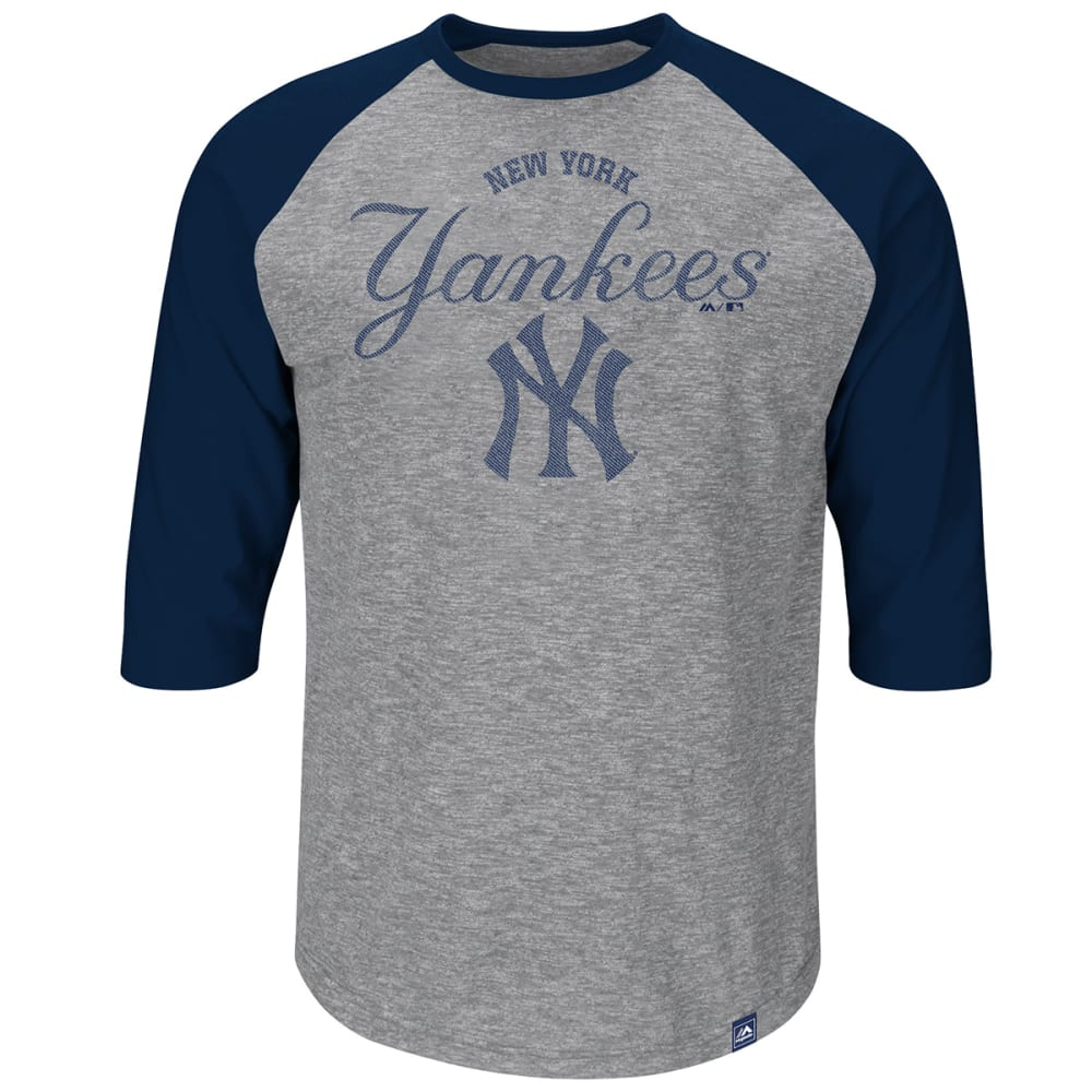 NEW YORK YANKEES Men's Fast Win 3/4 Raglan Tee - ASSORTED