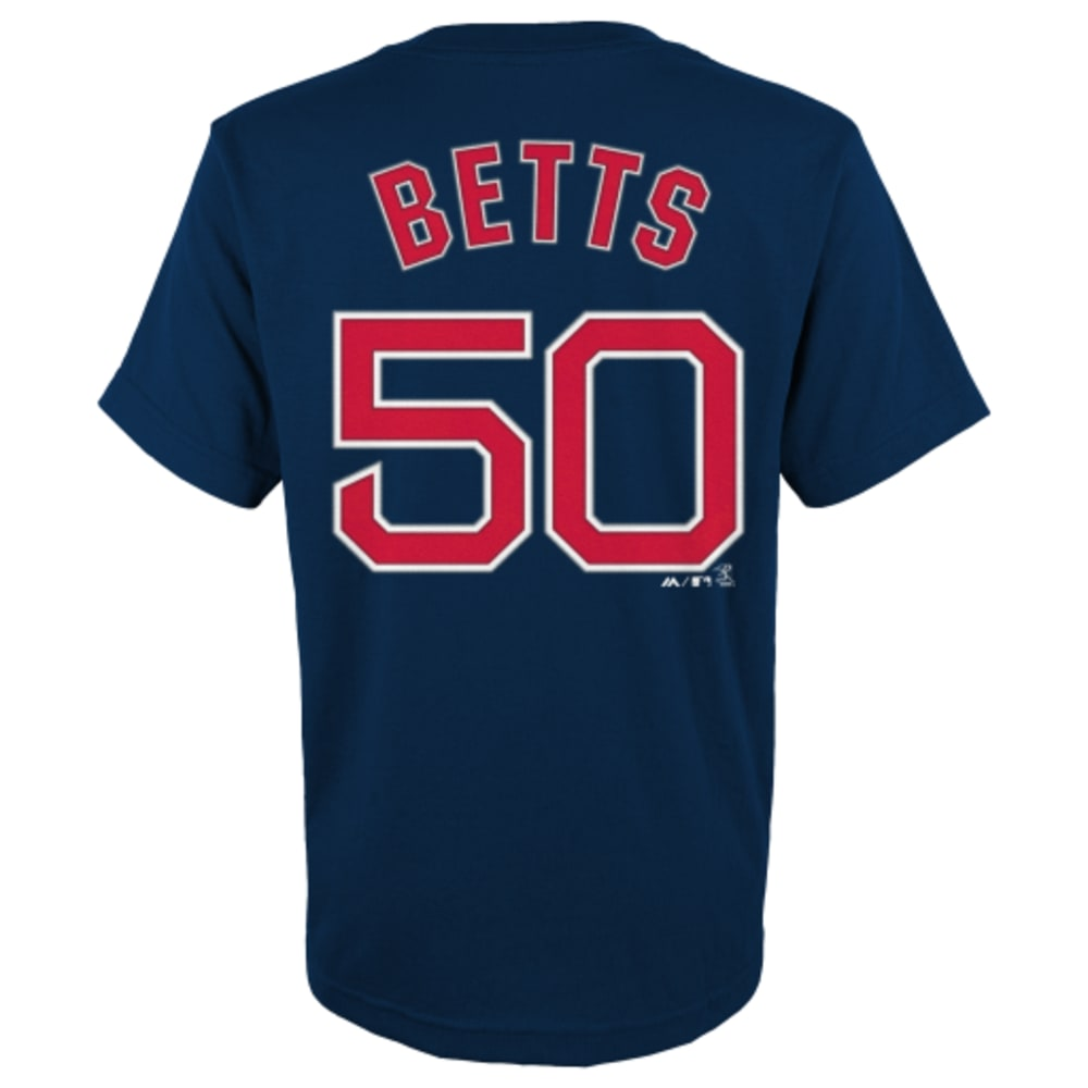 BOSTON RED SOX Kids' Betts #50 Tee - NAVY