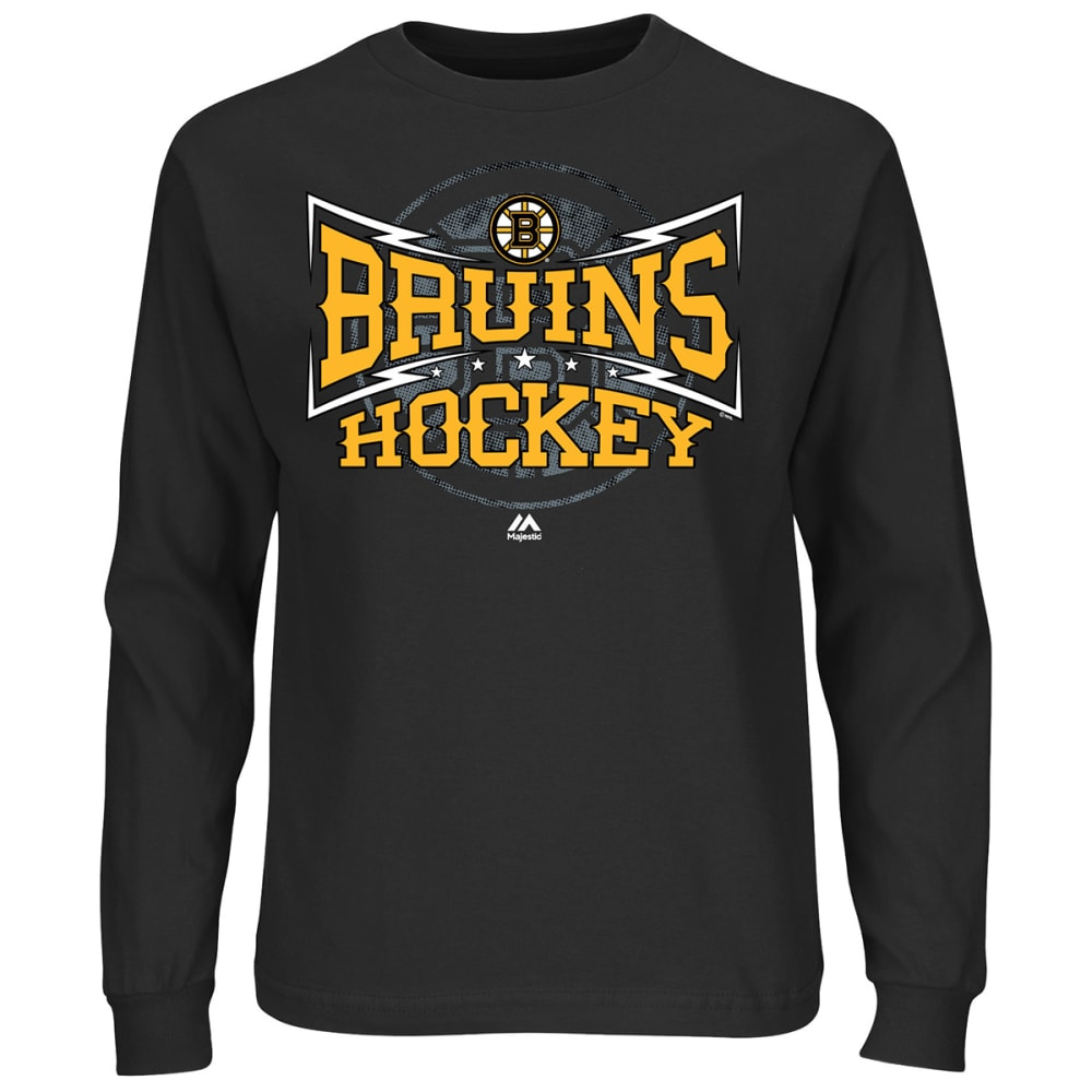 BOSTON BRUINS Boys' Smart Decision Long Sleeve Tee - BLACK