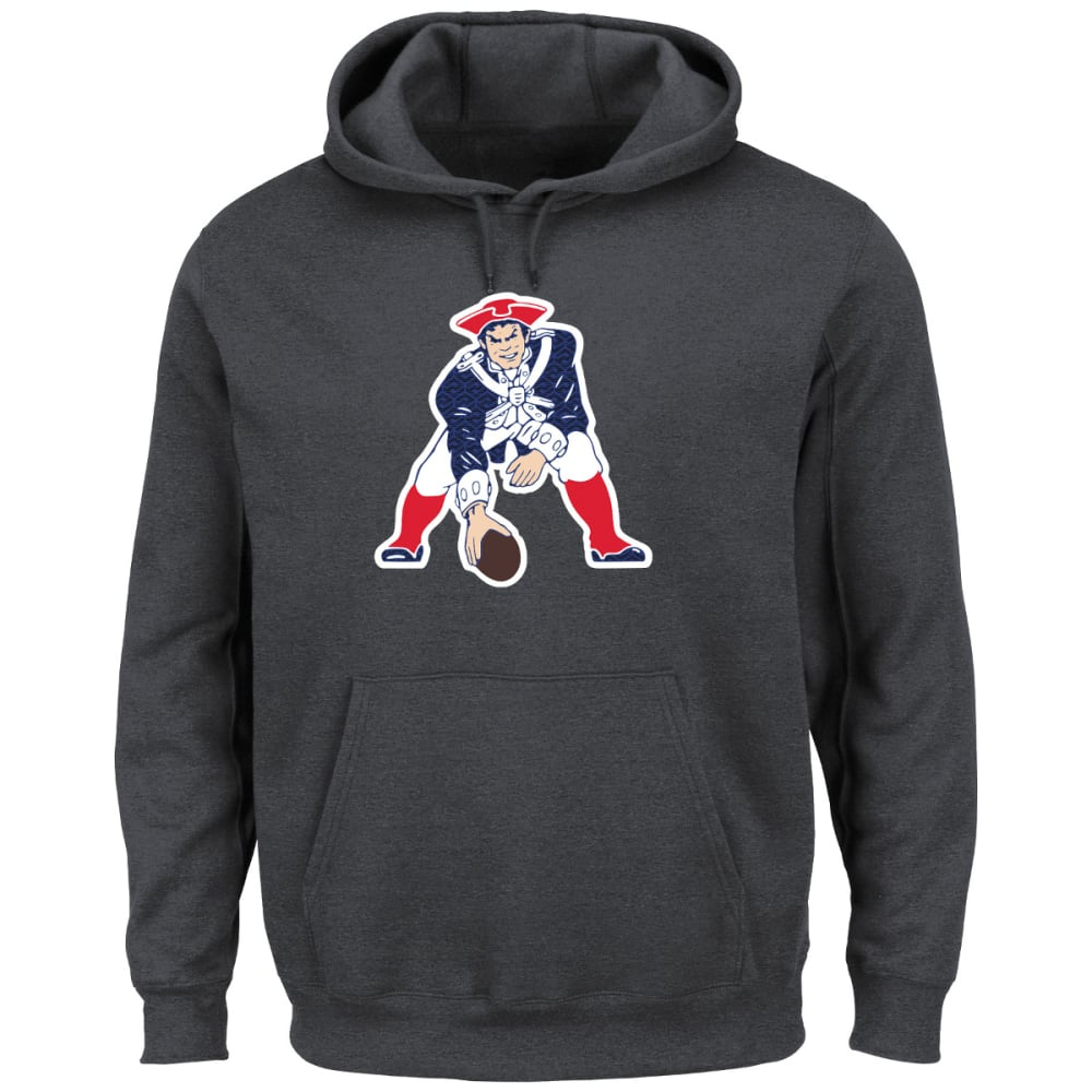NEW ENGLAND PATRIOTS Men's Critical Victory Pullover Hoodie - GREY