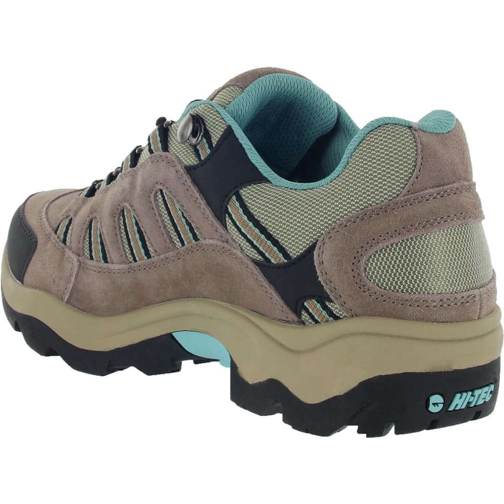 HI-TEC Women's Bandera Low Waterproof Hiking Shoes - TAUPE/DUSTY MINT