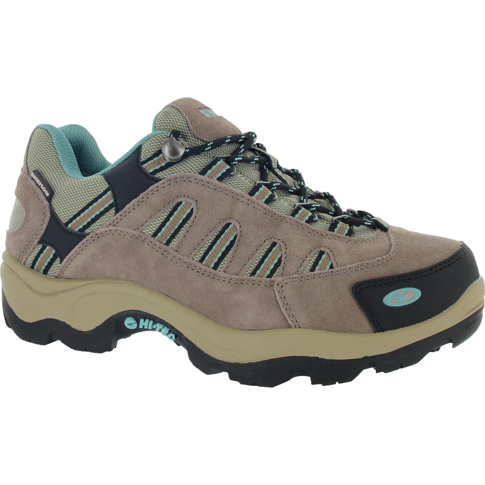 HI-TEC Women's Bandera Low Waterproof Hiking Shoes - TAUPE/DUSTY MINT