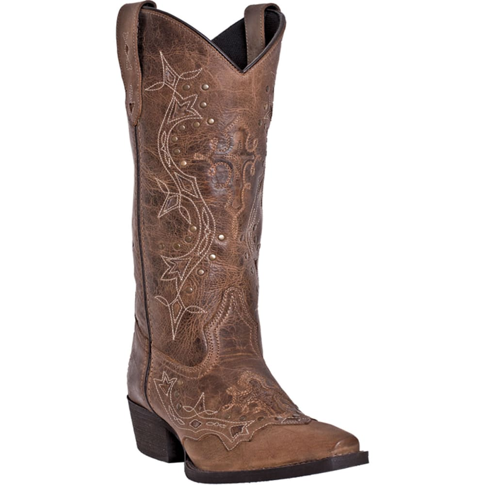 LAREDO Women's Cross Point Boots - BROWN-RUST
