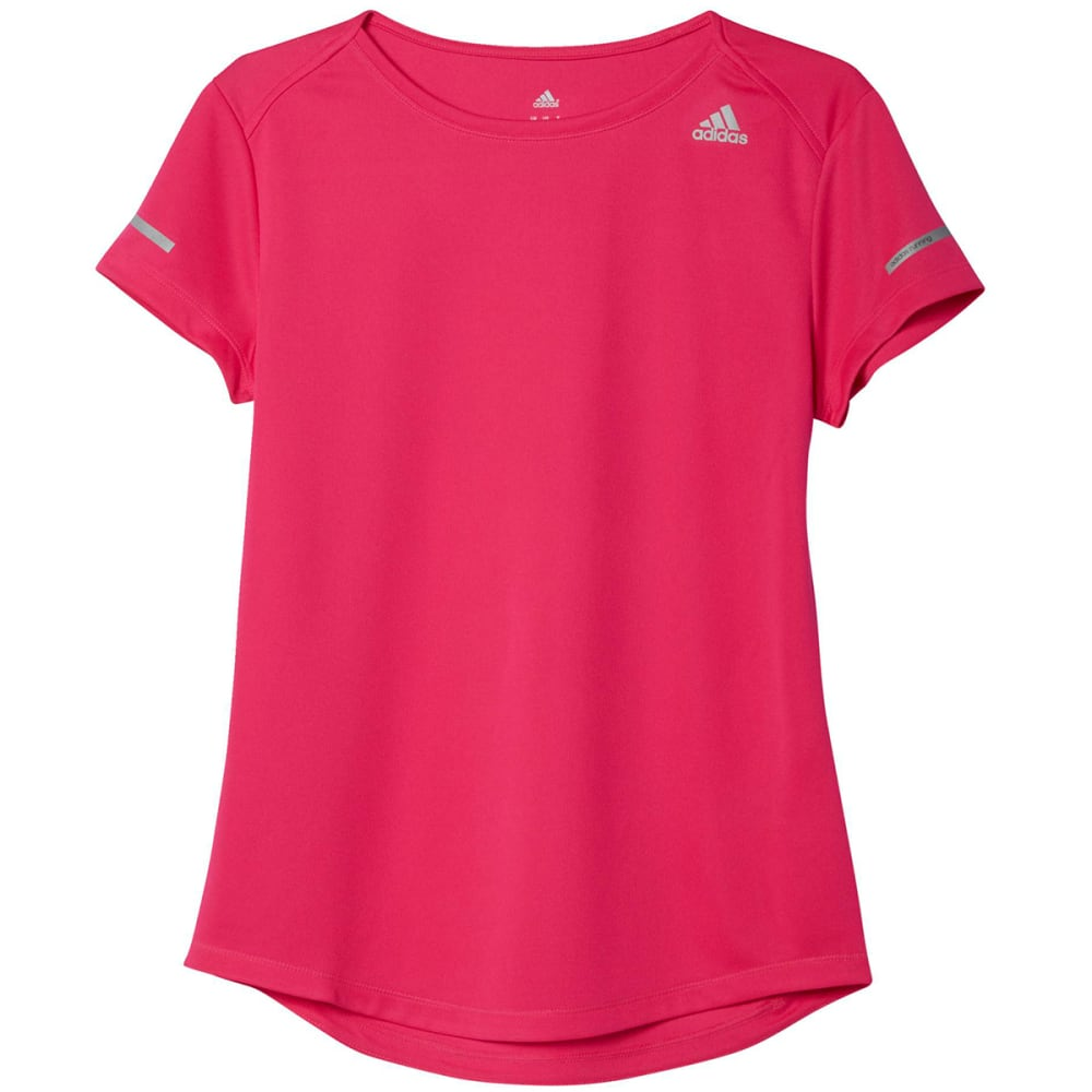 ADIDAS Women's Run Short-Sleeve Tee - SHOCK PINK AI7968