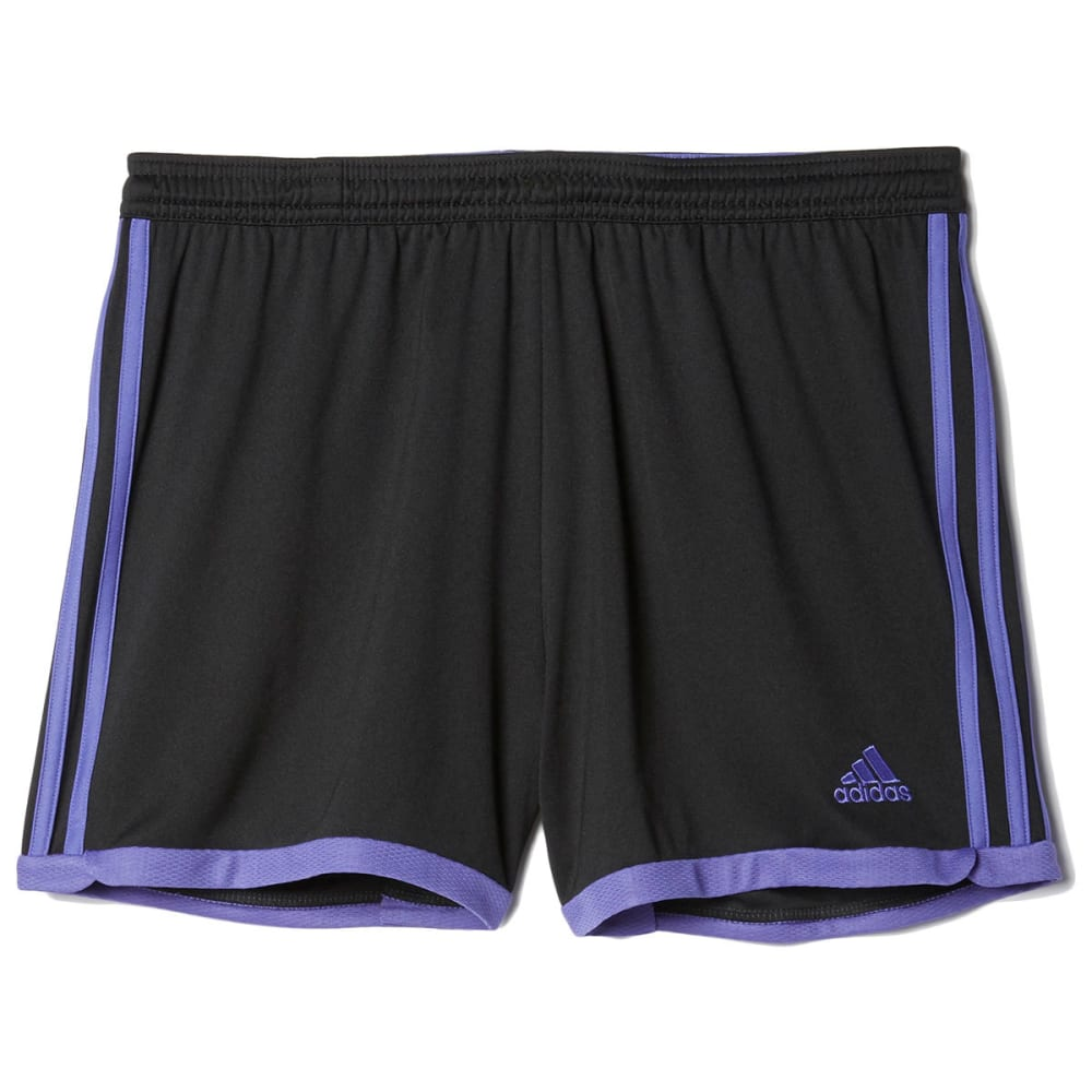 ADIDAS Women's Tastigo 15 Knit Shorts - BLACK/PURPLE