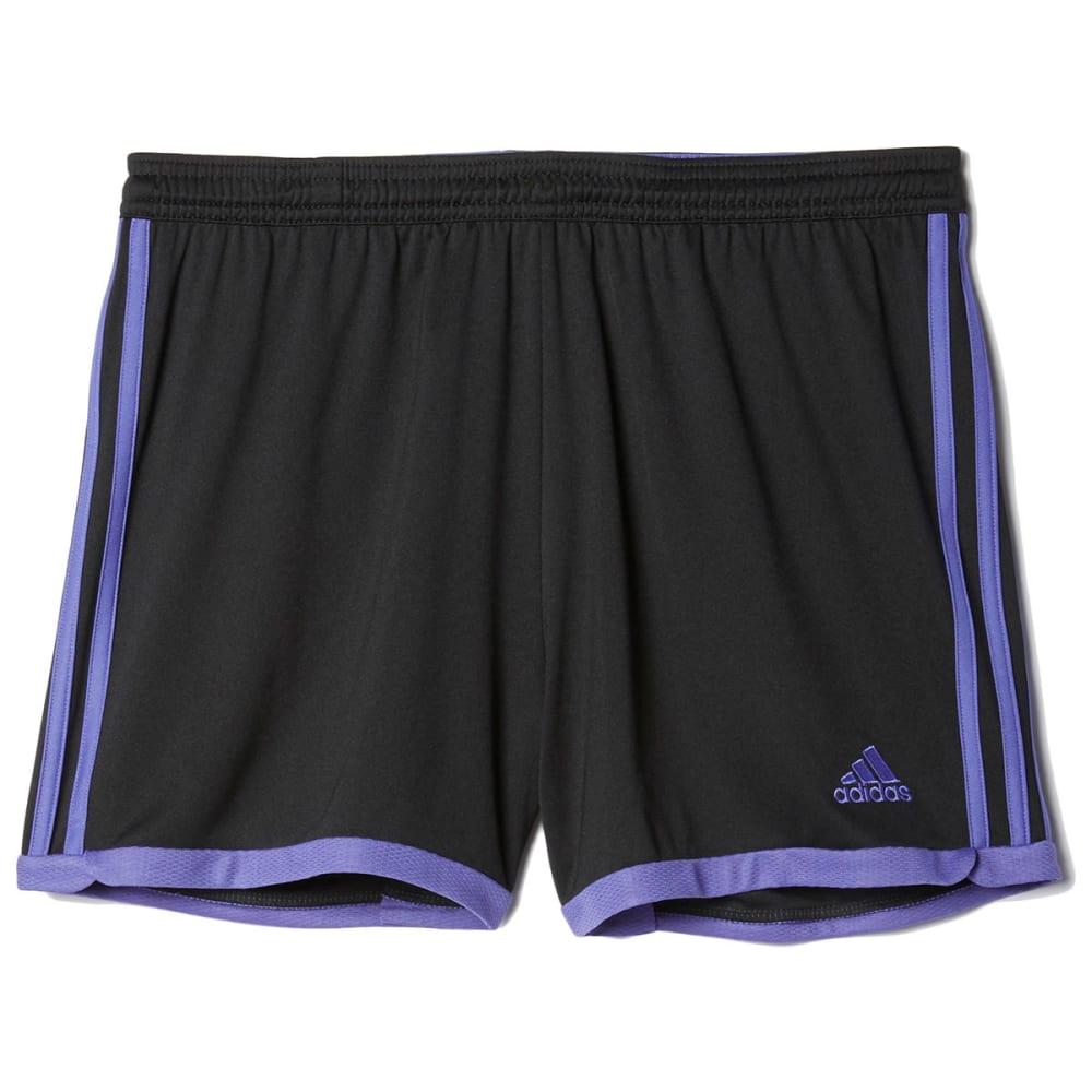 ADIDAS Women's Tastigo 15 Knit Shorts - BLACK/PURPLE