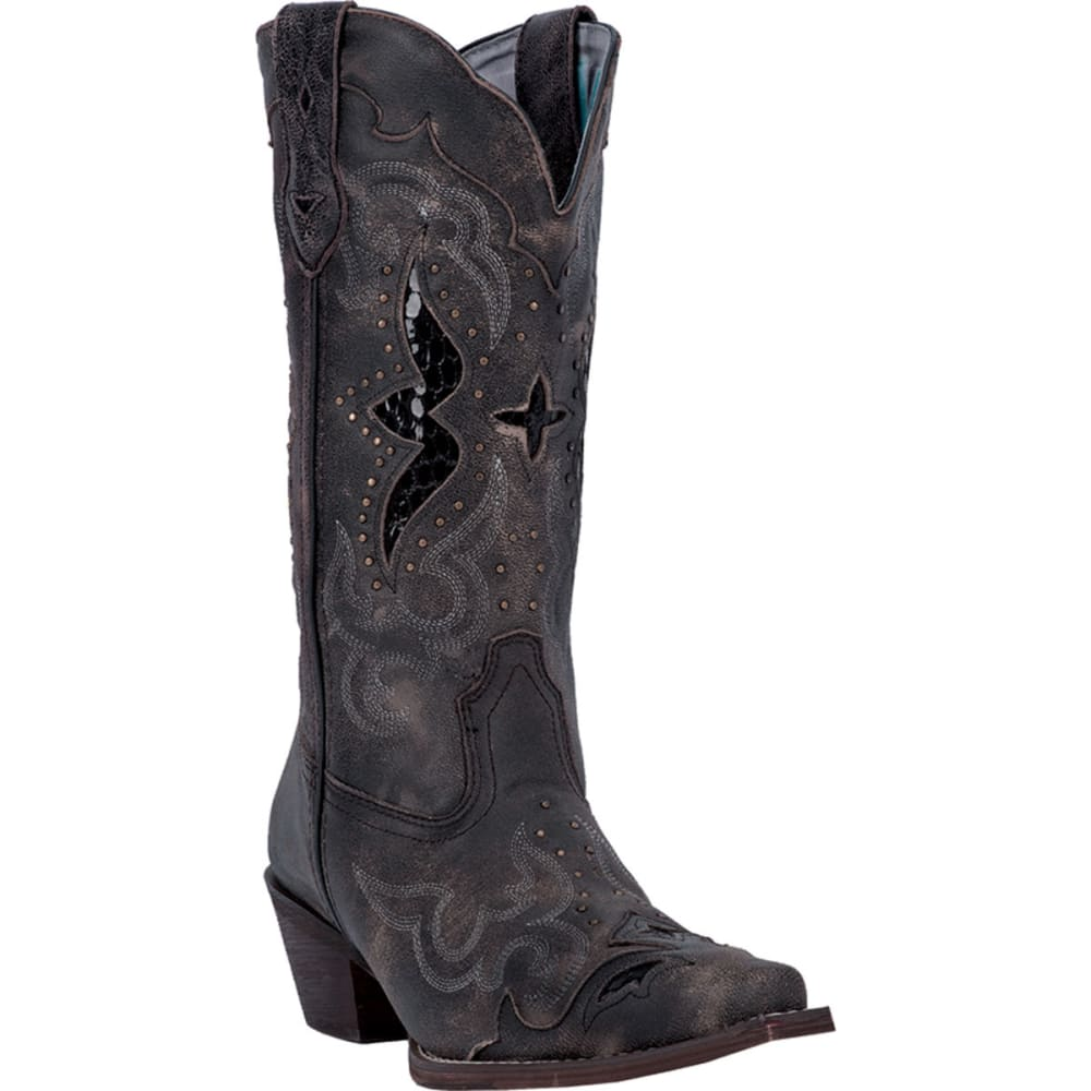 LAREDO Women's Lucretia Boots, Wide - BLACK/TAN