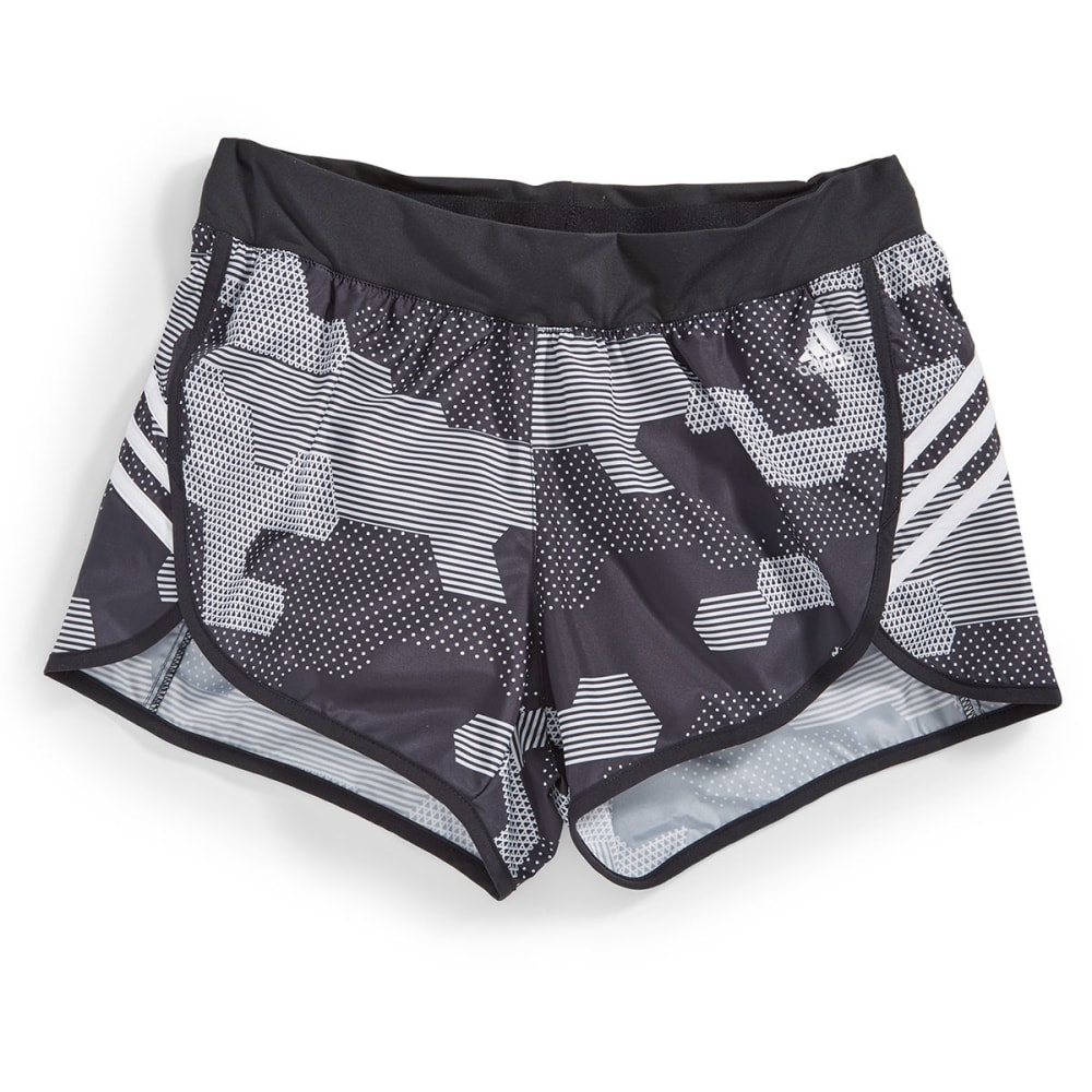 ADIDAS Women's Ultimate Woven Camo Print Shorts - BLACK/WHt-AI3007