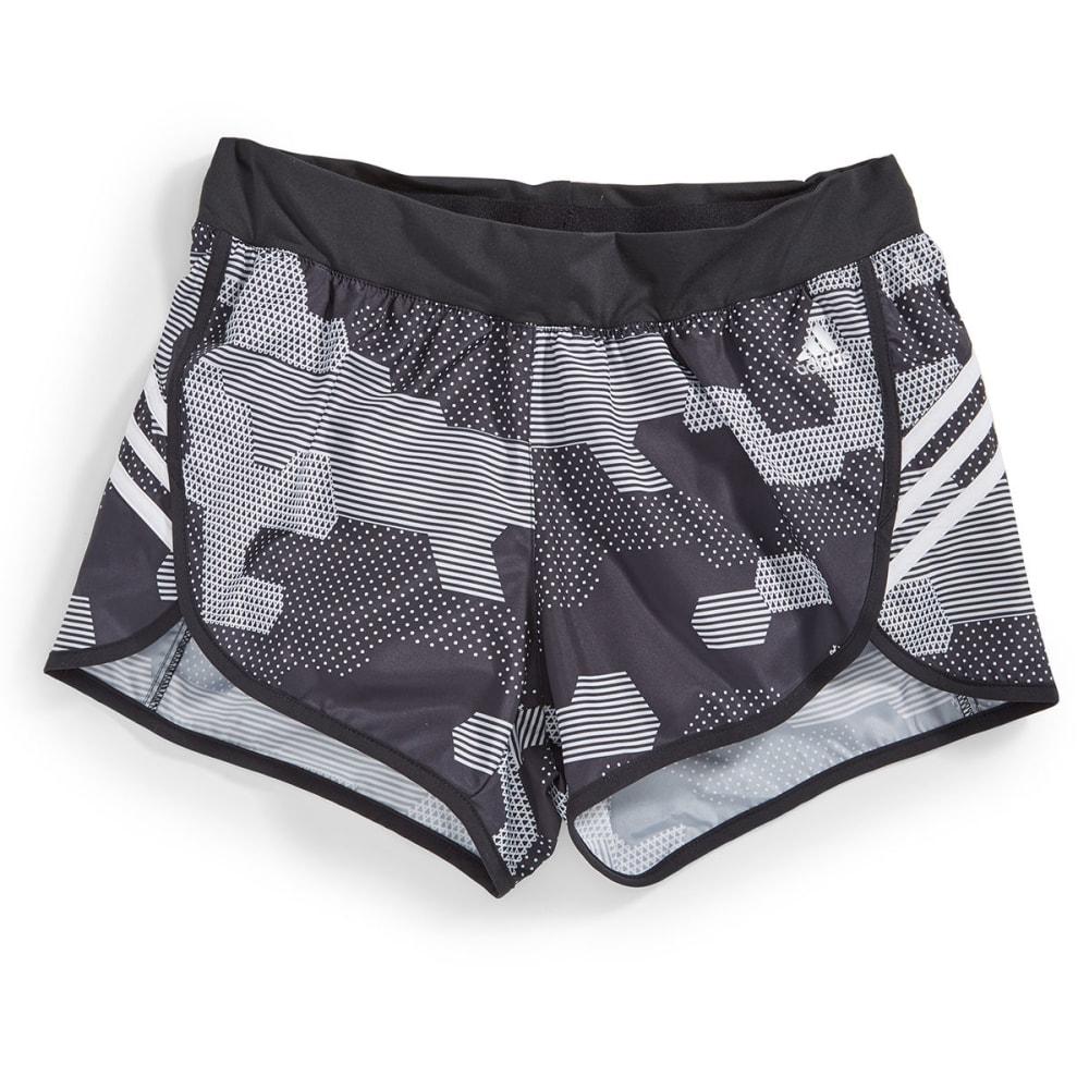 ADIDAS Women's Ultimate Woven Camo Print Shorts - BLACK/WHt-AI3007
