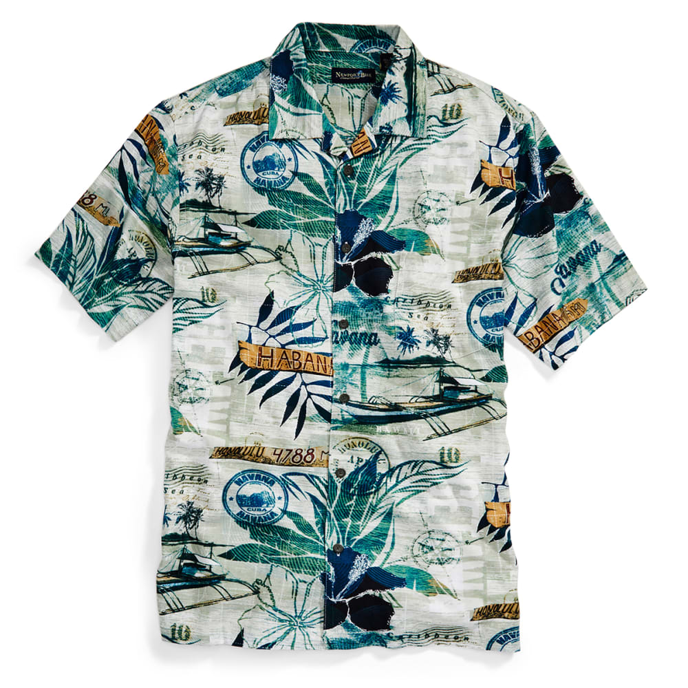 NEWPORT BLUE Men's Getaway Tropical Shirt - MULTI