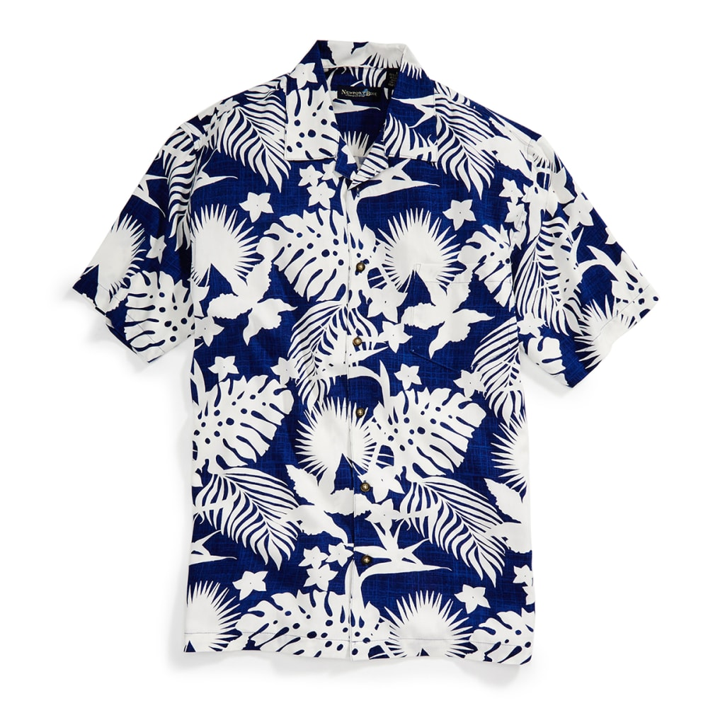 NEWPORT BLUE Men's Seaworthy Tropical Shirt - TWILIGHT/WHT