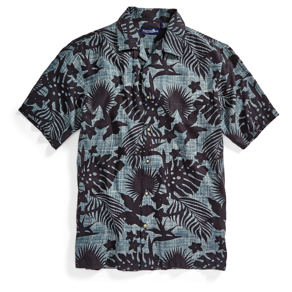 NEWPORT BLUE Men's Seaworthy Tropical Shirt - BLACK