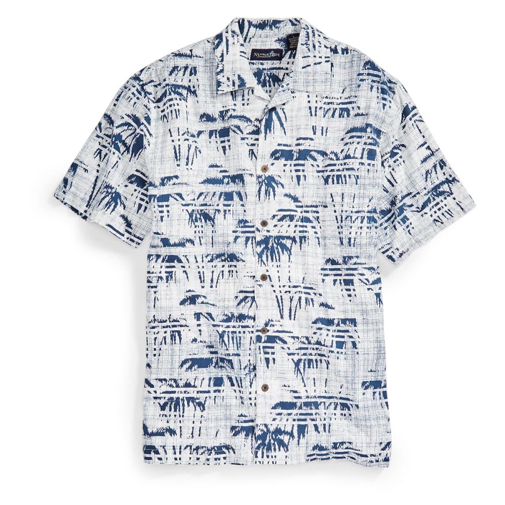 NEWPORT BLUE Men's Palm Lines Tropical Shirt - WHITE/BLU