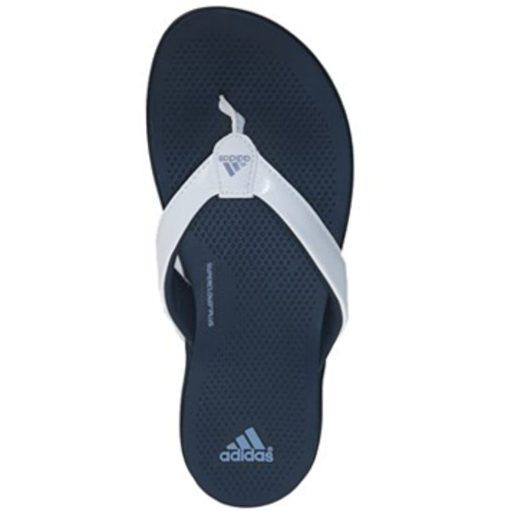Adidas Women's Supercloud Plus Flip Flops - Blue, 8