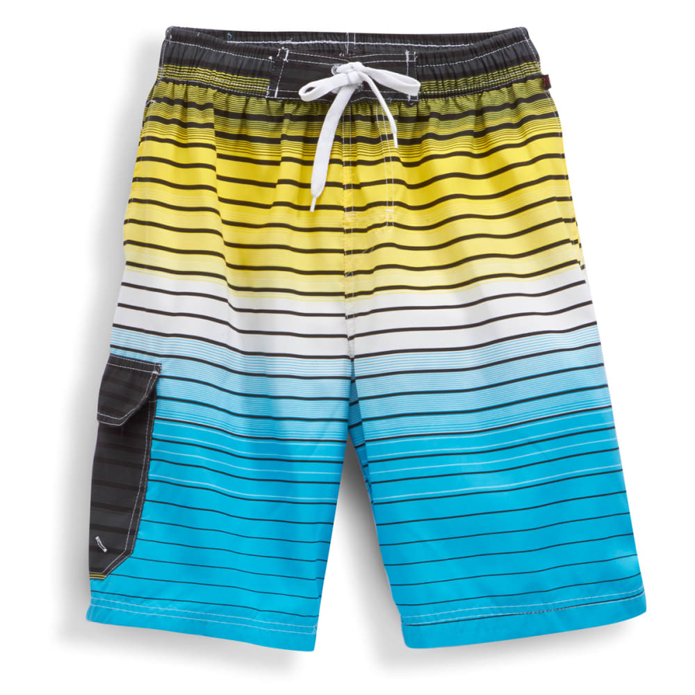 BLUE GEAR Men's Horizontal Stripe Shorts - MIST BLUE