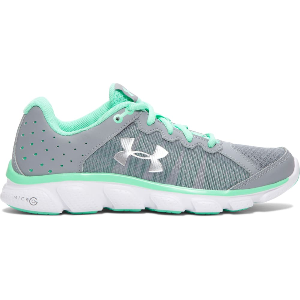 UNDER ARMOUR Women's Micro G Assert 6 Running Shoes - GREY-1266252-035