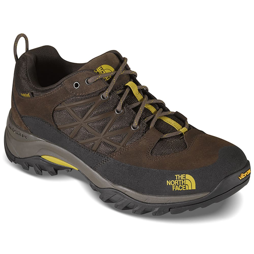 THE NORTH FACE Men's Storm Waterproof Low Hiking Shoes, Coffee Brown/Antique Moss - COFFEE BRN/ANTIQUE
