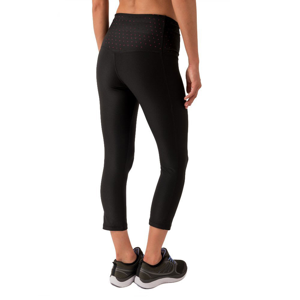 RBX Women's Prime Body Contouring Capris - BLACK/HOT PINK-A