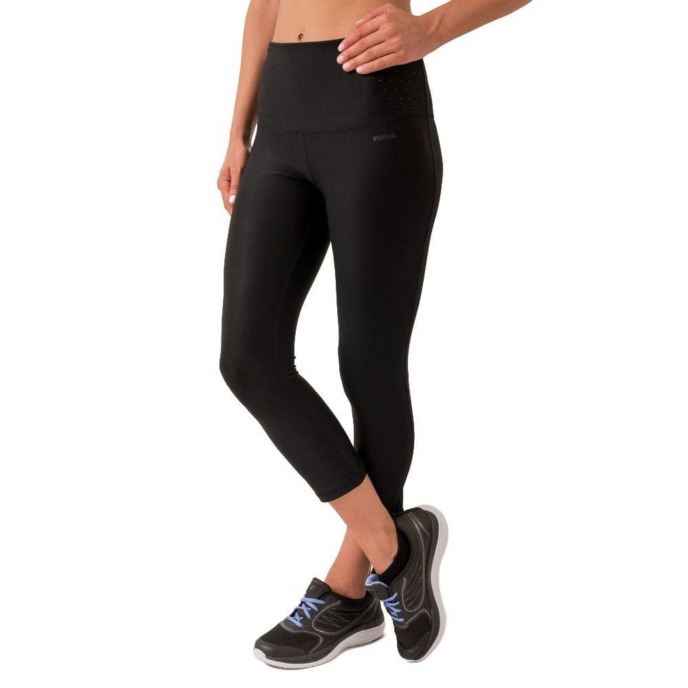 RBX Women's Prime Body Contouring Capris - BLK/PEACOCK TEAL-B