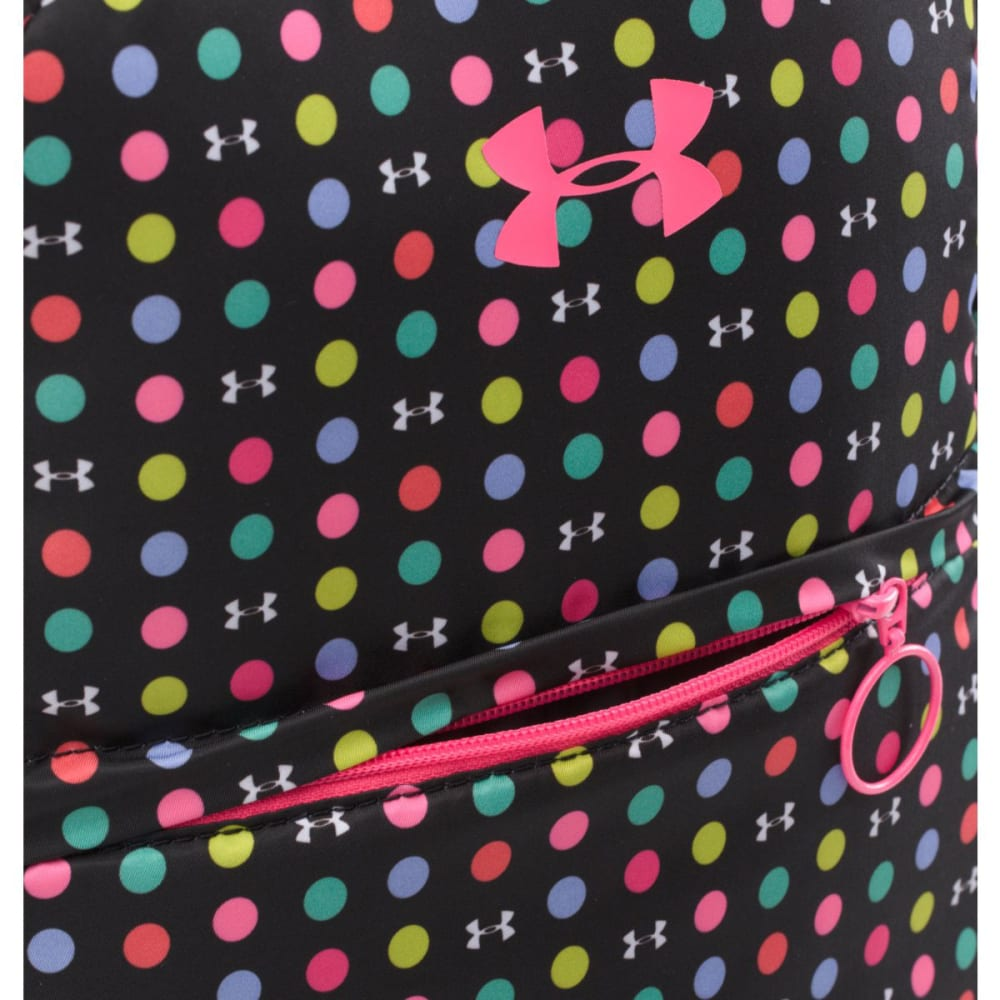UNDER ARMOUR Girls' Favorite Backpack - BLK PINK DOT PRT 003