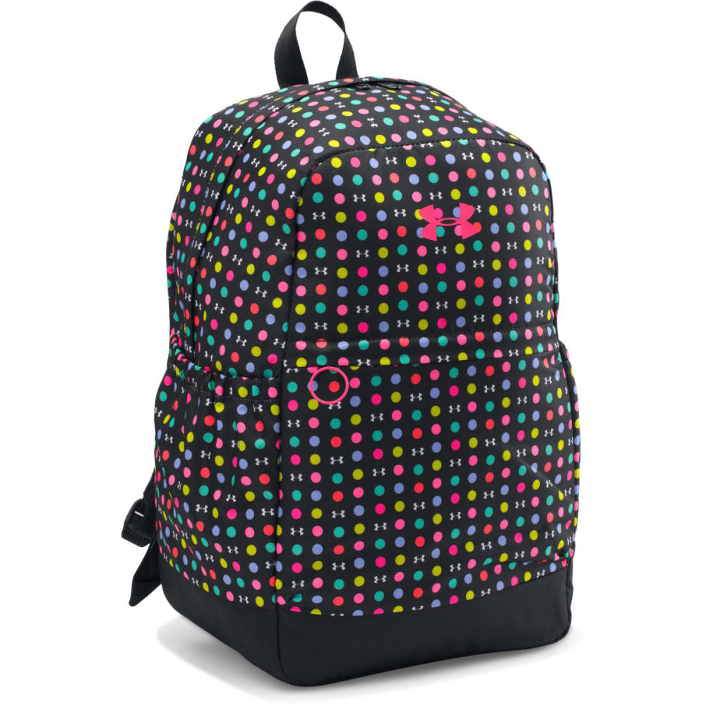 UNDER ARMOUR Girls' Favorite Backpack - BLK PINK DOT PRT 003