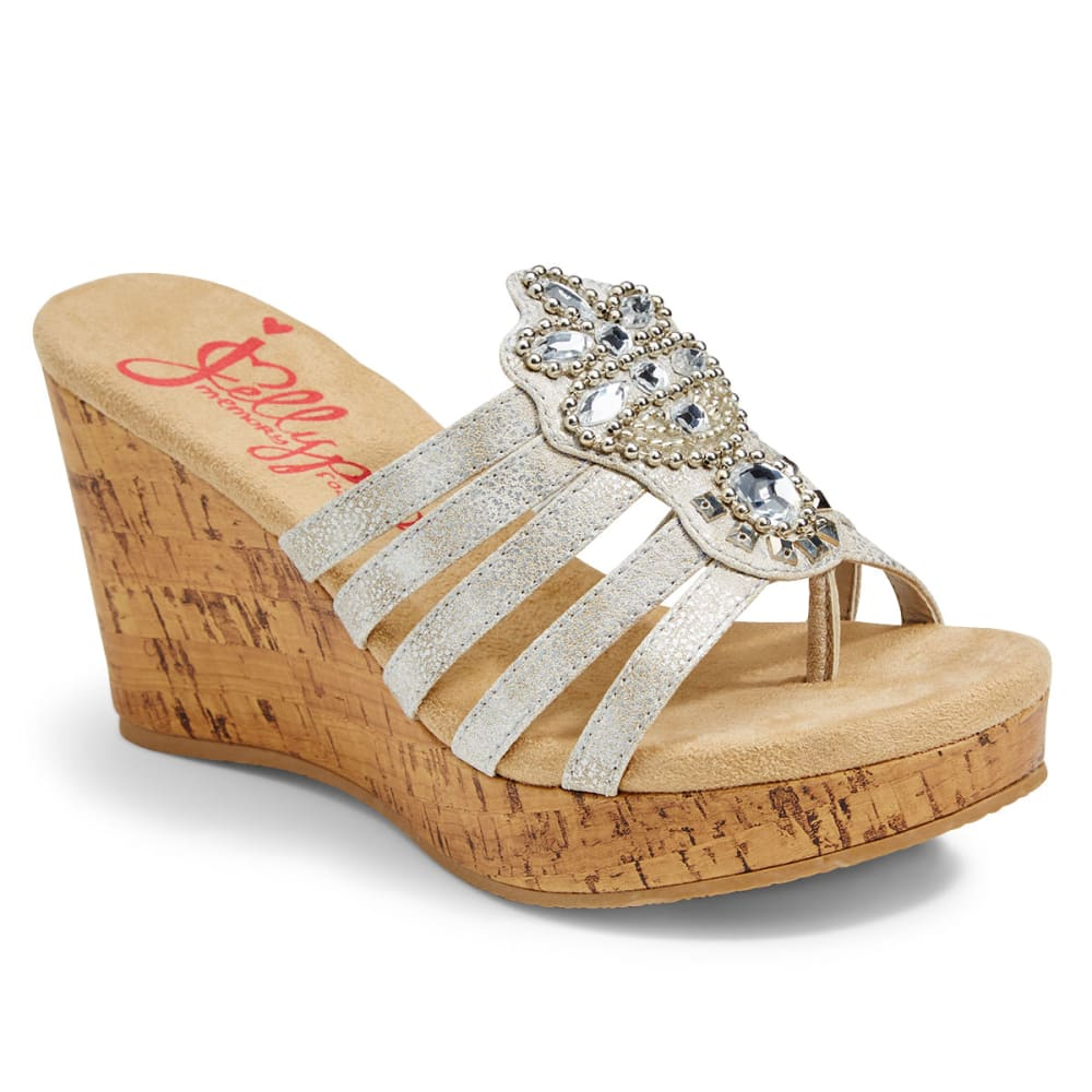 JELLYPOP Women's Phoenix Wedge Sandals - SILVER