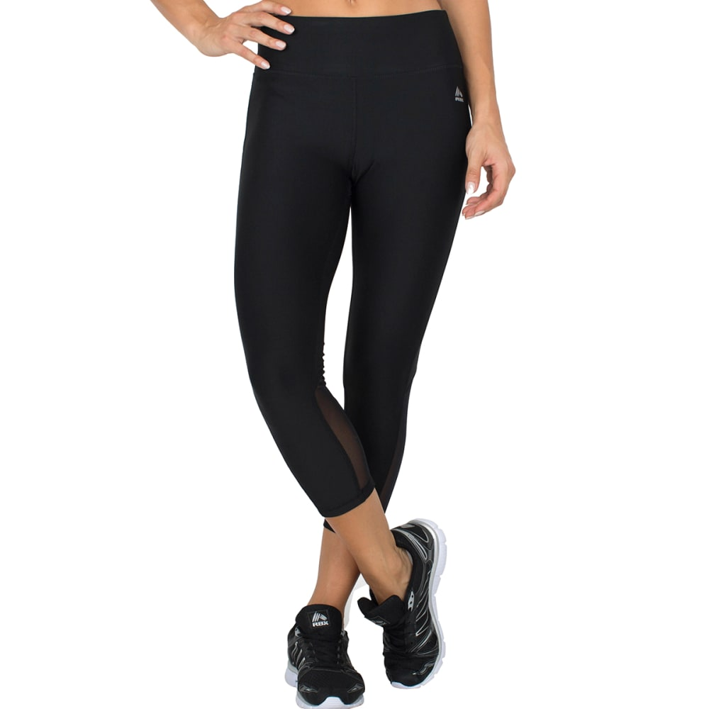 "RBX Women's 22"" Power Mesh Capris - BLACK-D"