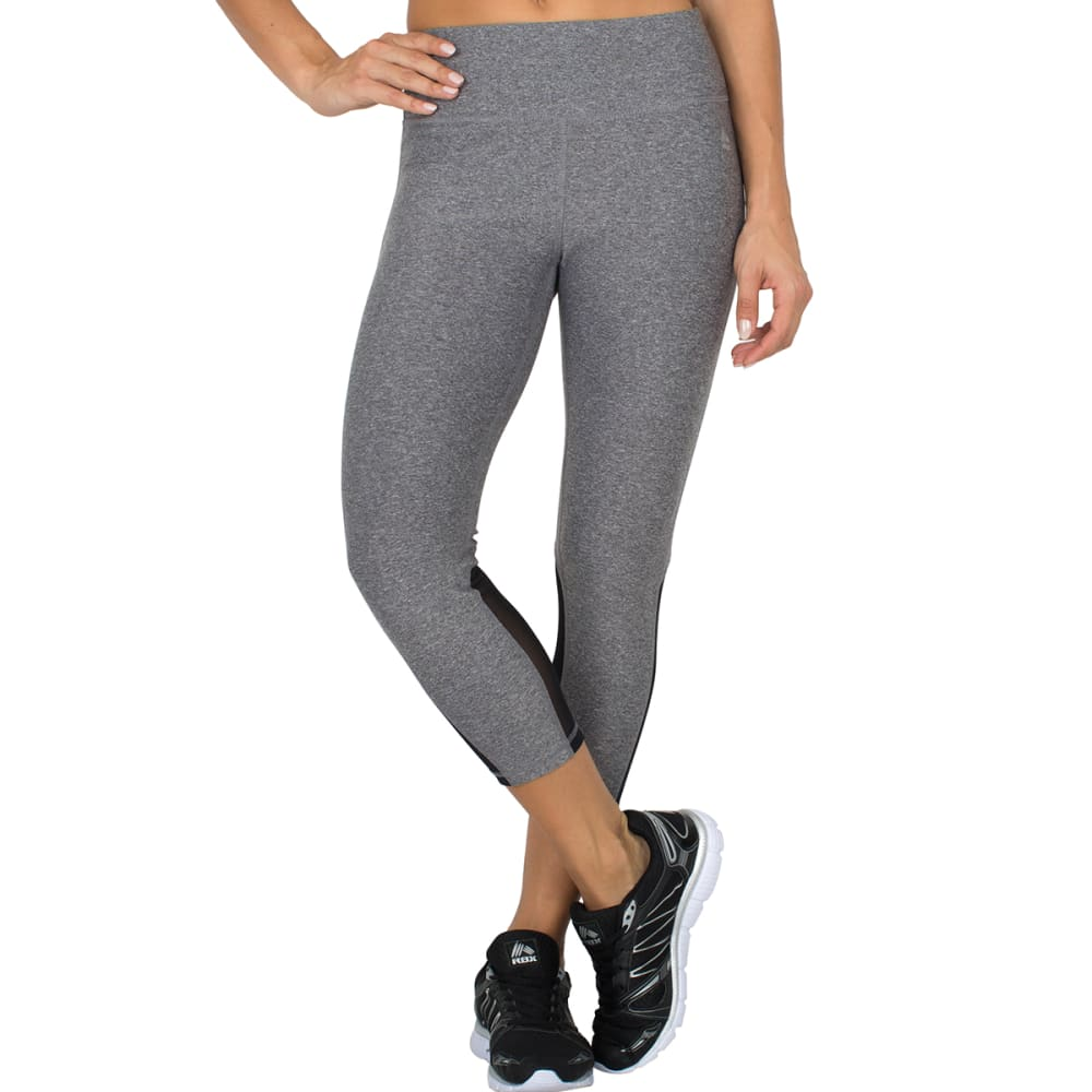 "RBX Women's 22"" Power Mesh Capris - CHARCOAL-E"