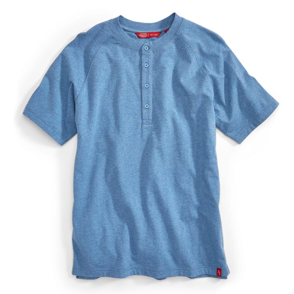 EMS® Men's Alder Short-Sleeve Henley Tee - CORONET BLUE HEATHER