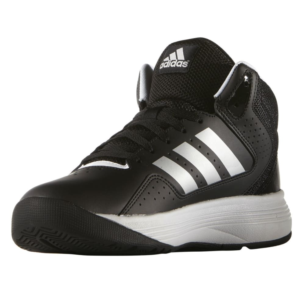 ADIDAS Boys' Cloudfoam Ilation Mid Basketball Shoes, Wide - BLACK