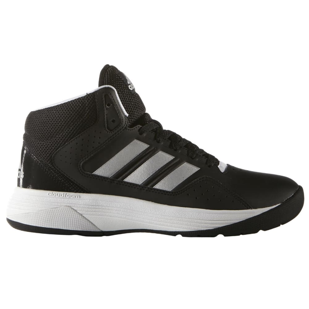 Adidas Boys Cloudfoam Ilation Mid Basketball Shoes, Wide - Black, 11