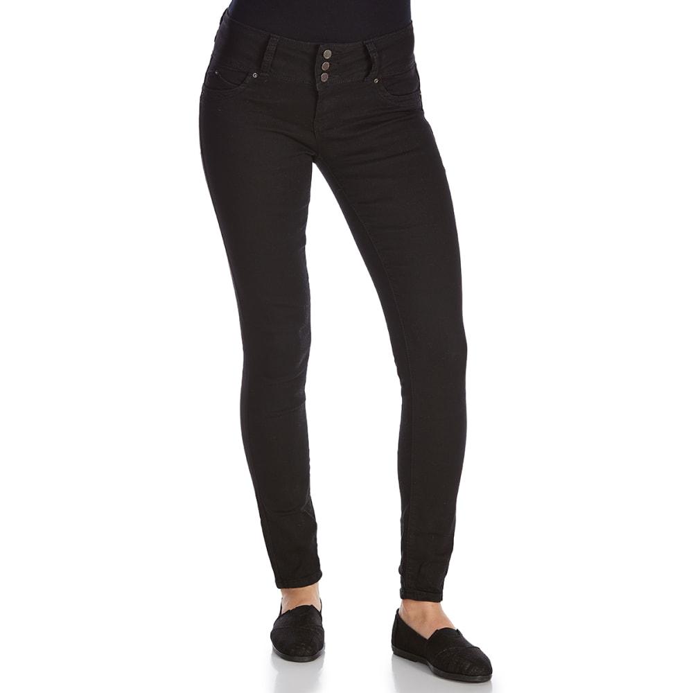 ROYALTY Women's Wanna Betta Butt Triple-Button Jeggings - W67-BLACK