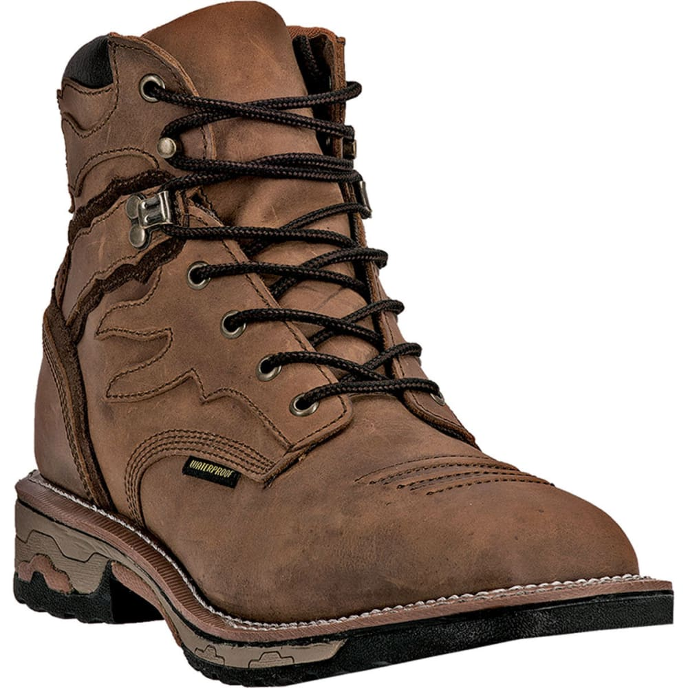 DAN POST Men's Flame Work Boots, Wide - SADDLE TAN