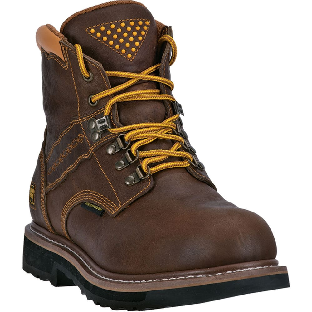 DAN POST Men's Gripper Zipper Steel Toe Work Boots - BROWN