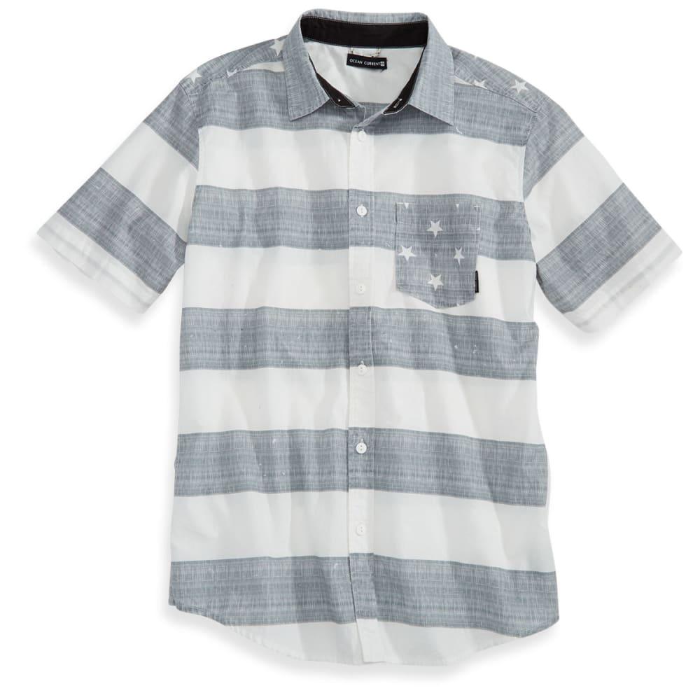 OCEAN CURRENT Guys' Short-Sleeve Ash Flag Top Shirt - WHITE