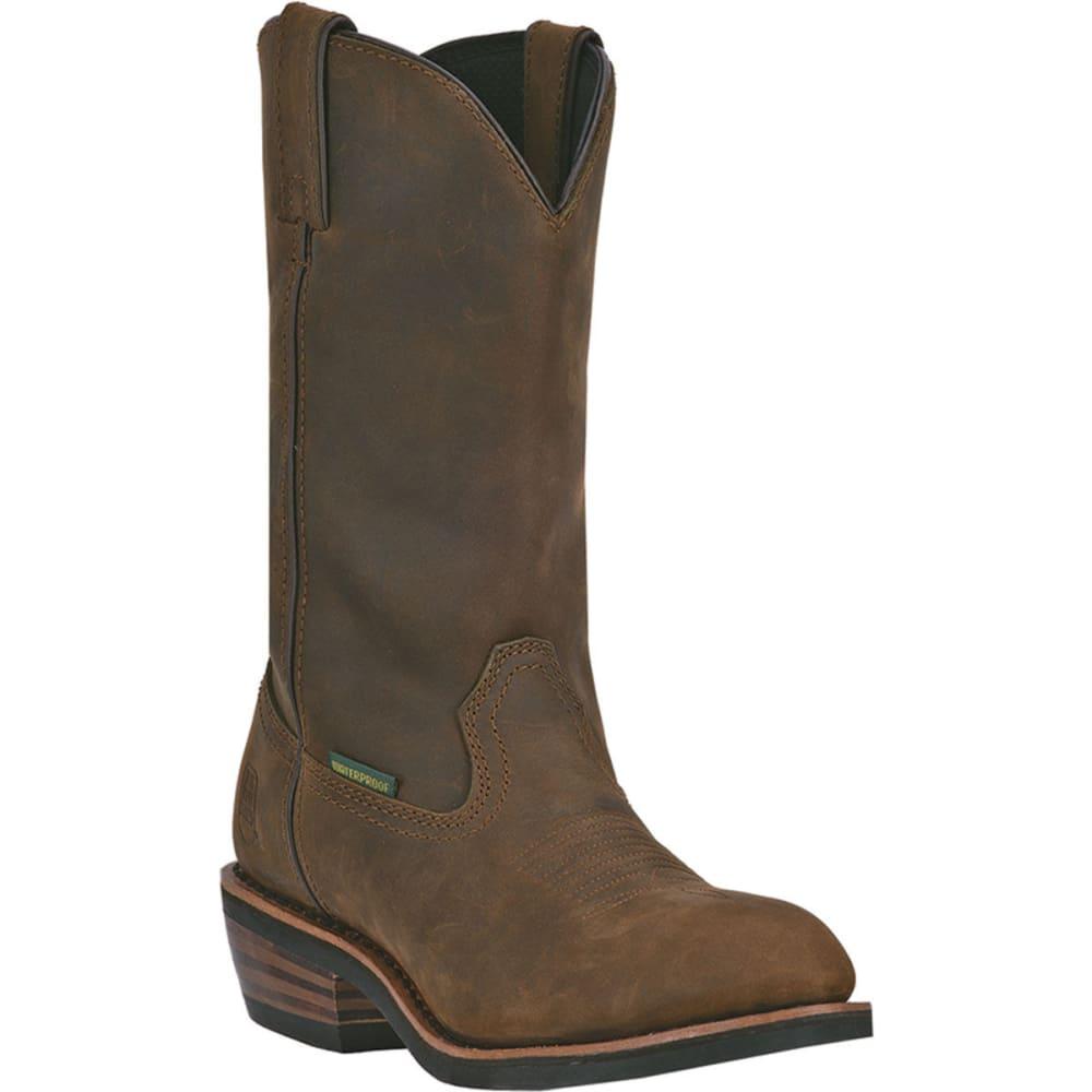 DAN POST Men's Distressed Albuquerque Waterproof Cowboy Boots, Wide - TAN DISTRESSED
