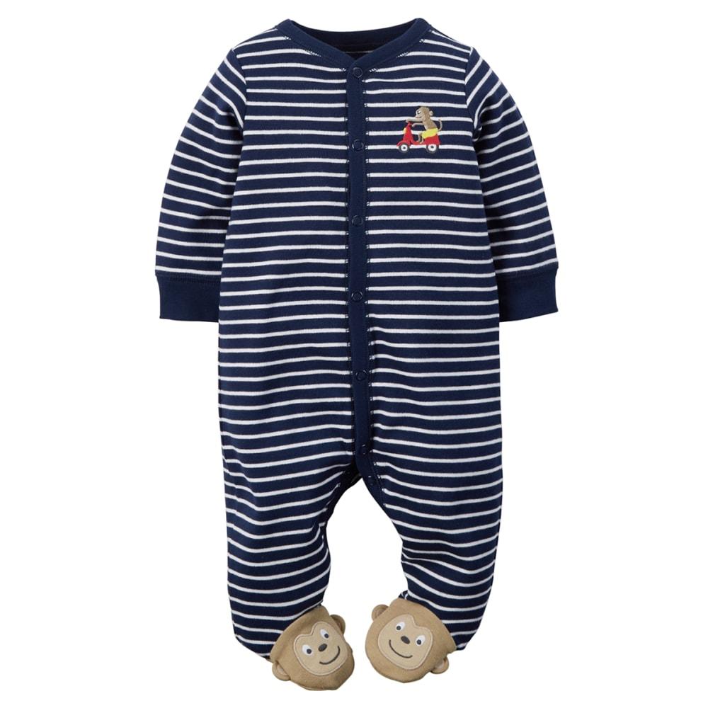 CARTER'S Baby Boys' Monkey Snap-Up Sleep & Play One-Piece - NAVY