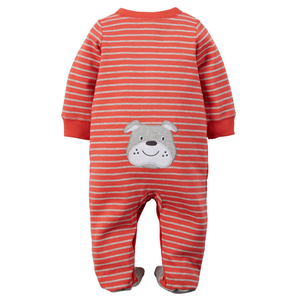 CARTER'S Baby Boys' Bulldog Snap-Up Sleep & Play One-Piece - RED