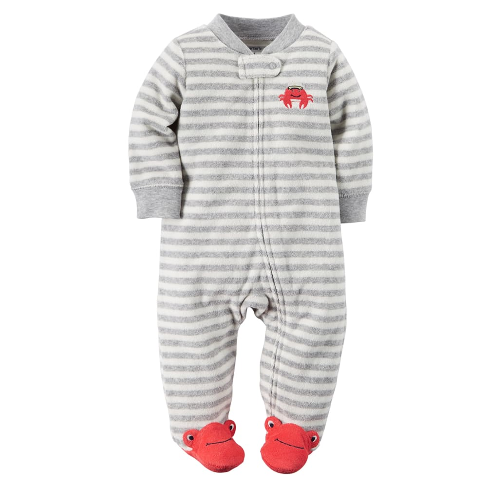 CARTER'S Baby Boys' Crab Zip-Up Sleep & Play One-Piece - GREY